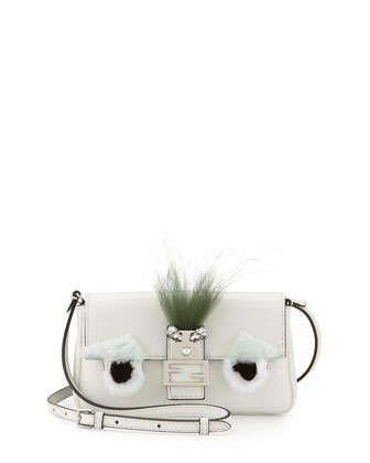 Micro Monster Shoulder Bag, White/Black by Fendi at Neiman Marcus.