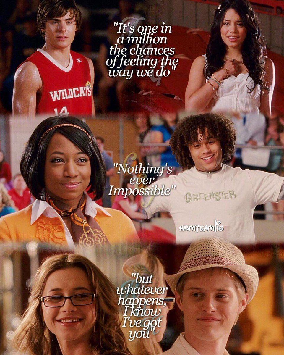 Twitter High school musical quotes, High school musical
