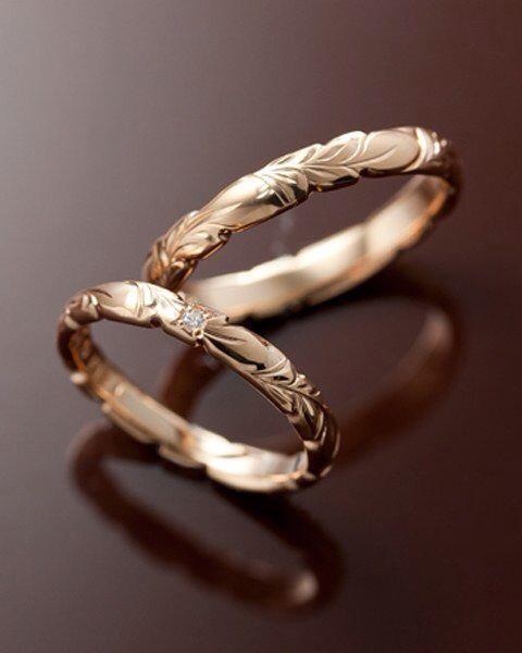 14K Rose Gold Wedding Band – Design Band – Stacking Ring – Pattern Wedding Band – Pink Gold Wedding Band