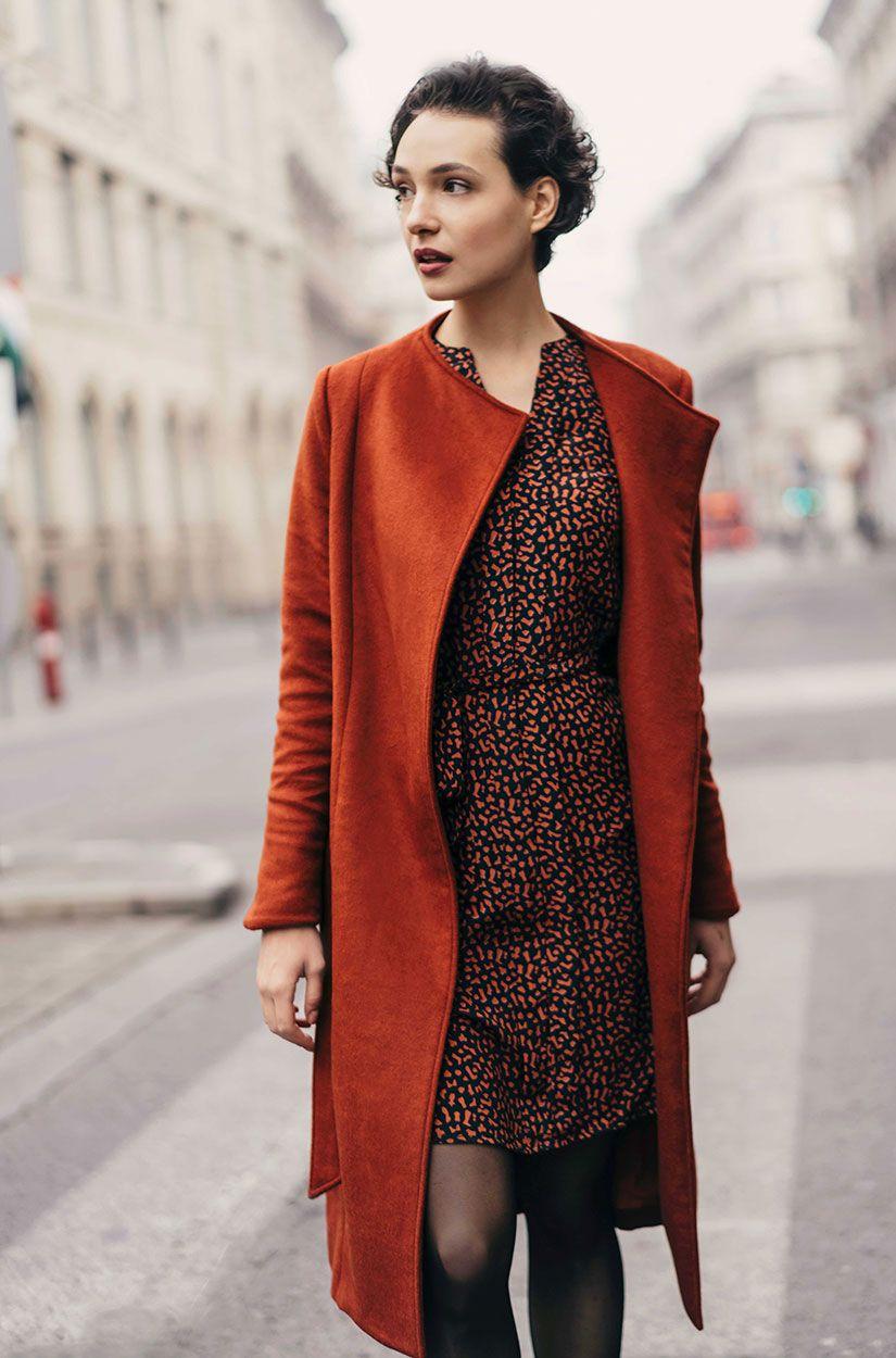 winter langärmliges knielanges kleid pinterest