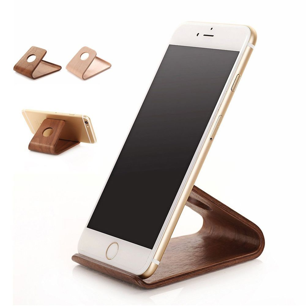 Universal Wood Desk Table Stand Holder Cradle For iPhone 6