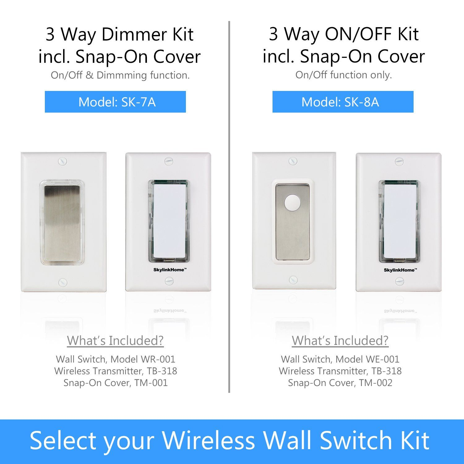 wireless diy 3way on off anywhere lighting home control wall switch