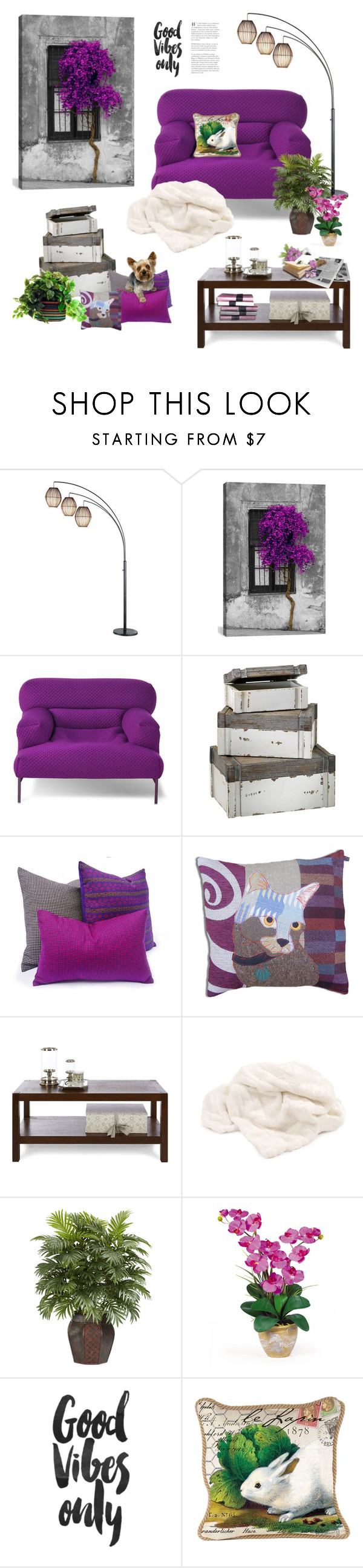"""""""Good Vibes Only"""" by maitepascual ❤ liked on Polyvore featuring interior, interiors, interior design, home, home decor, interior decorating, Adesso, iCanvas, Montis and Cyan Design"""