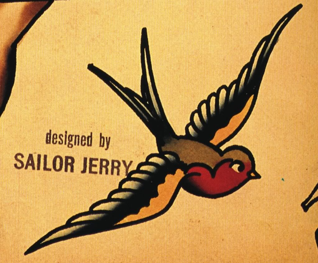 Sailor S Jerry Swallow Old School Tattoo Sailor Jerry Tattoos Sailor Jerry Swallow Bird Tattoos