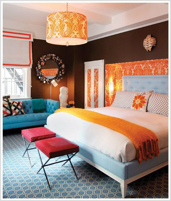 color psychology decorating with orange blue orange