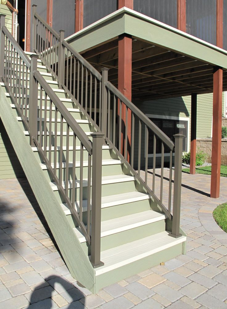 Deck Railings Minnesota Bayer Built Woodworks Aluminum   Installing Aluminum Stair Railing   Baluster   Deck Stair   Balcony Deck   Railing Systems   Pressure Treated