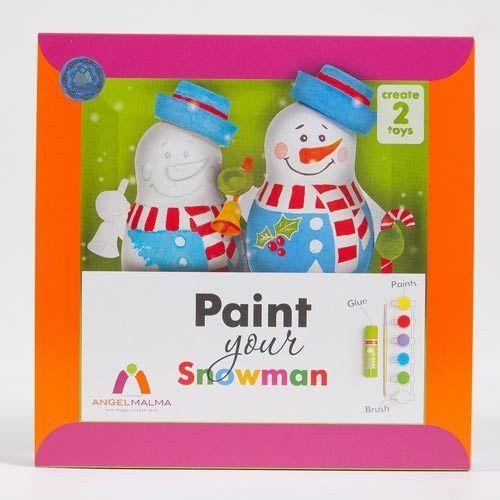 Kreativset für Kinder, Male Deinen Schneemann, ab 3 Jahren, von Angel Malma