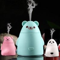 Wish   Panda Ultrasonic Aromatherapy Essential Aroma Oil Diffuser Cool Mist Humidifier