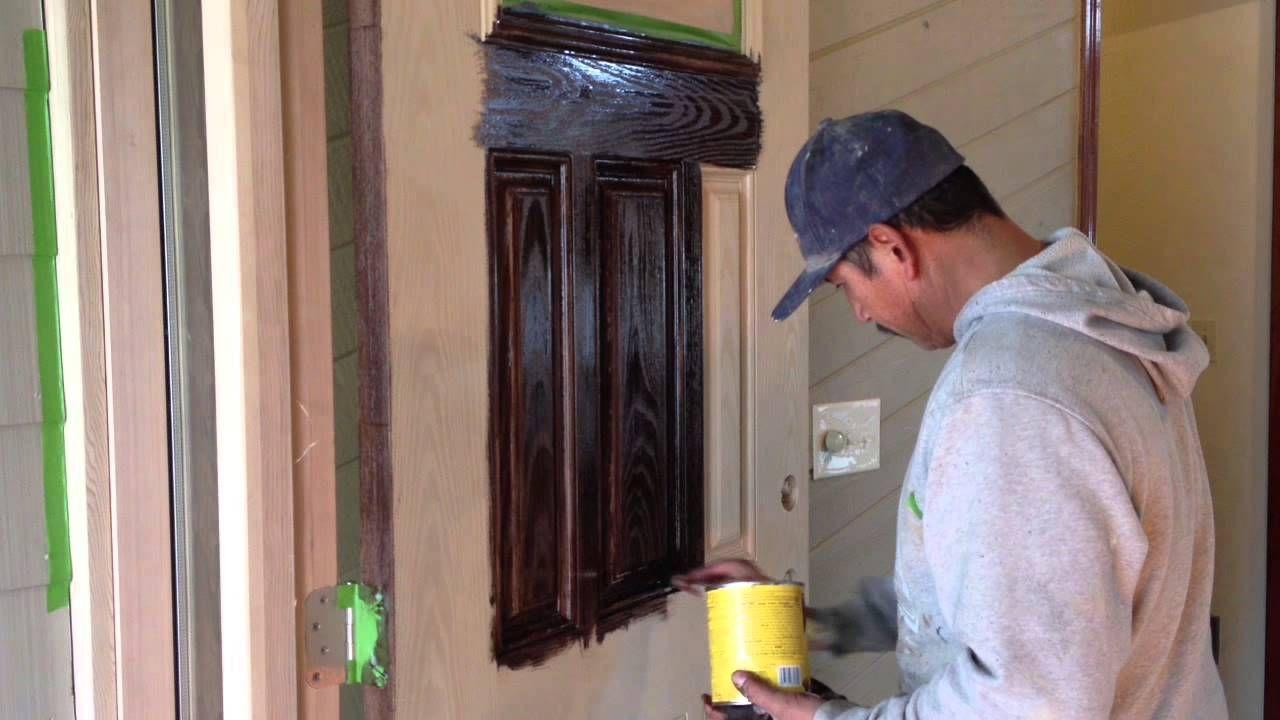 Gel Staining Fiberglass Doors Trailer Re Do S Staining