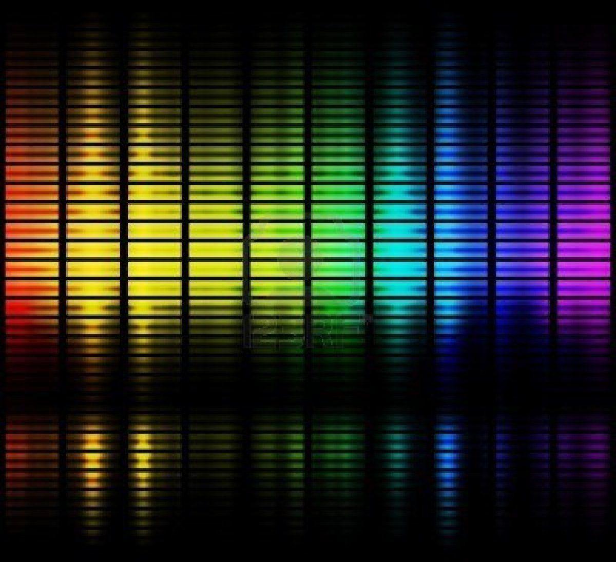 Des Ondes Sonores Dans La Gamme De Couleurs Affichables En