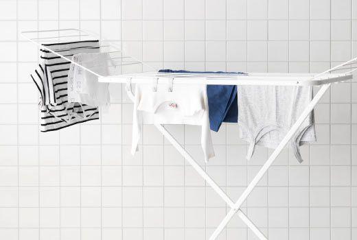 Wäscheständer Ikea ikea putzutensilien z b mulig wäscheständer in weiß badezimmer