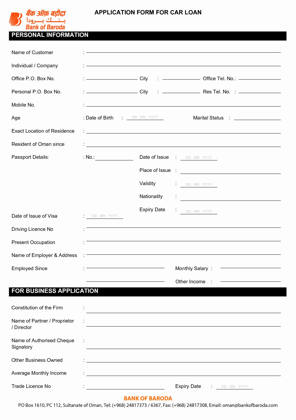 Consumer Credit Application form Elegant A Direct Auto