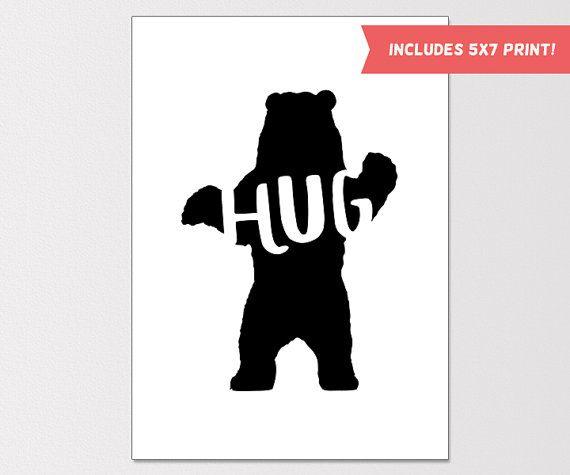 Printable greeting card just because card bear hug friend printable greeting card just because card bear hug friend greeting card friend m4hsunfo