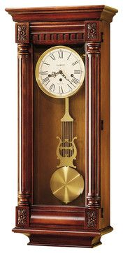 Howard Miller 36 Key Wound Westminster Chime Classic Wall Clock New Haven Wall Traditional Cl Howard Miller Wall Clock Vintage Wall Clock Pendulum Wall Clock