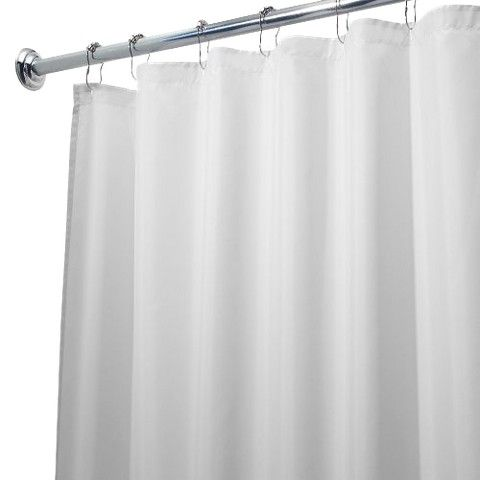 InterDesign Waterproof Long Shower Curtain/Liner - White (72x84 ...
