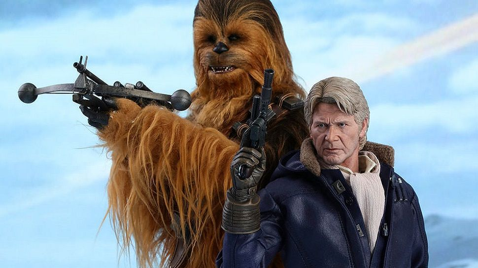 Old Han Solo And Chewbacca Get Scarily Lifelike Hot Toys Nerdist Han Solo And Chewbacca Star Wars Han Solo Star Wars