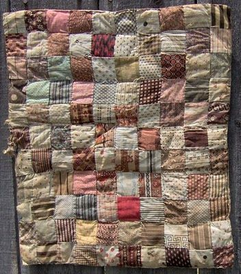 1870/1880 Tied Doll Quilt,The Humble Stitcher: Antique Doll Quilts