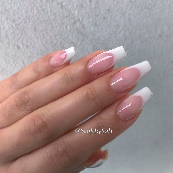 Beautiful White Tip Nails Designs Specially for You ☆ See more: https:// - Beautiful White Tip Nails Designs Specially For You Mani Pedi