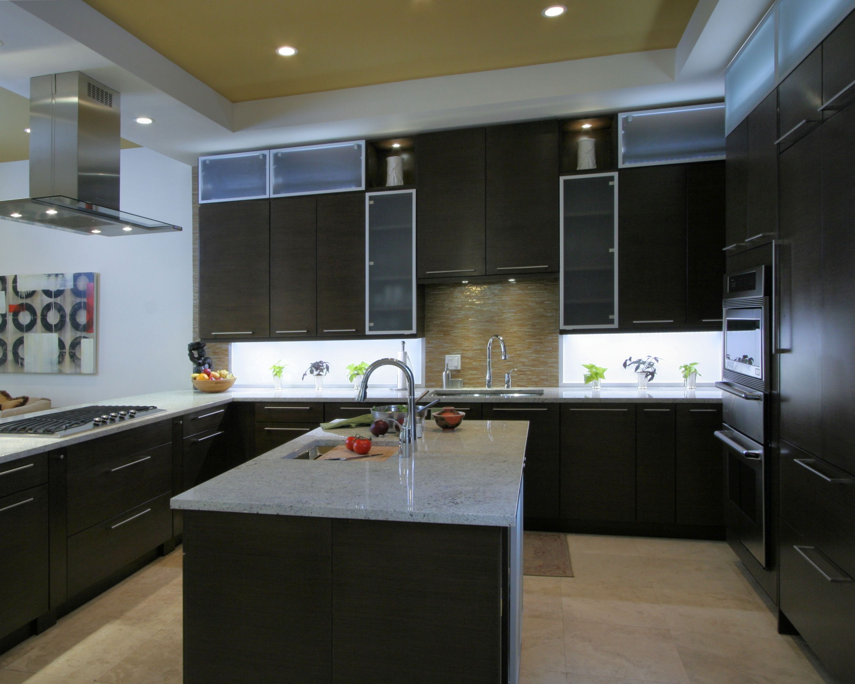 inspired led lighting. Contemporary Kitchen Featuring Inspired LED Cool White Lighting Led O