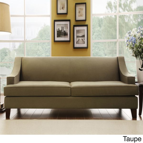INSPIRE Q Winslow Concave Arm Modern Sofa   Overstock™ Shopping   Great  Deals On INSPIRE