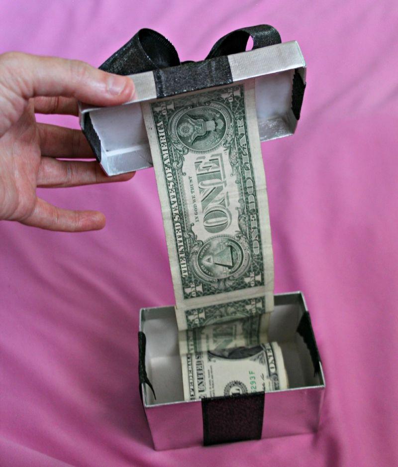 Geldgeschenke Zu Weihnachten Schachtel Silber Schleife Kleben