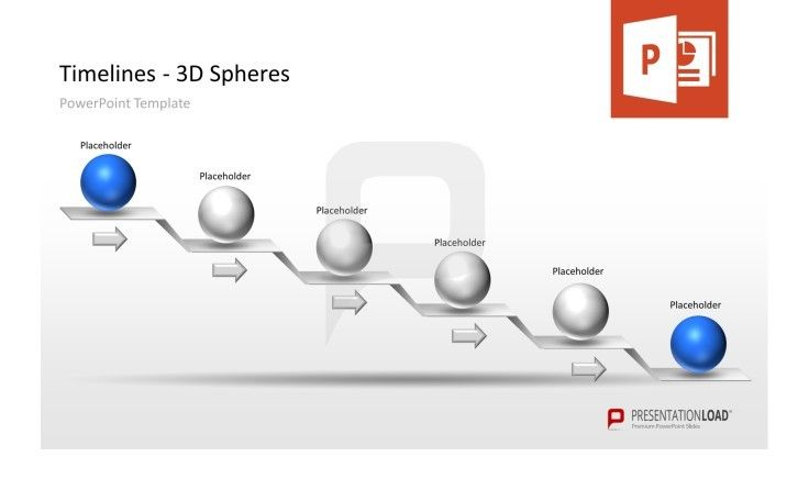 Timeline PowerPoint Template #presentationload   www - timeline spreadsheet template