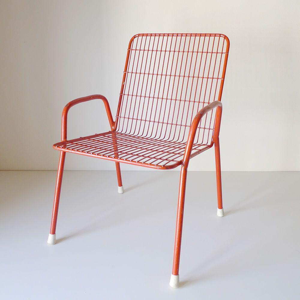 chaise fauteuil enfant metal design