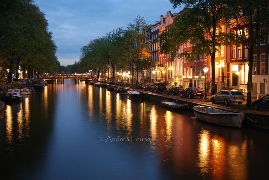 Amsterdam by night by Andrea Leung on 500px