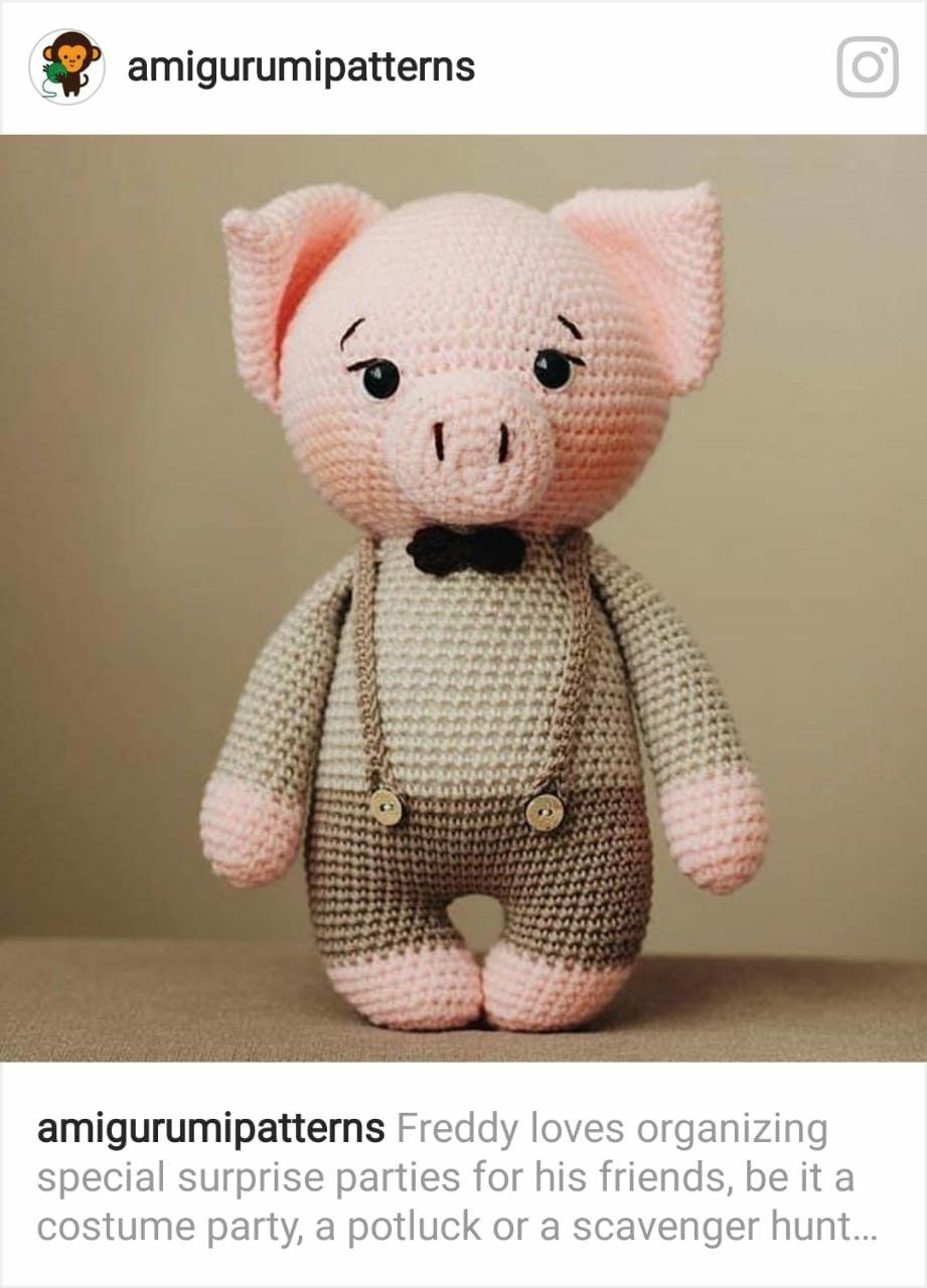 Porco Receita de Amigurumi de Crochê por Little Bear Crochets | 1280x921
