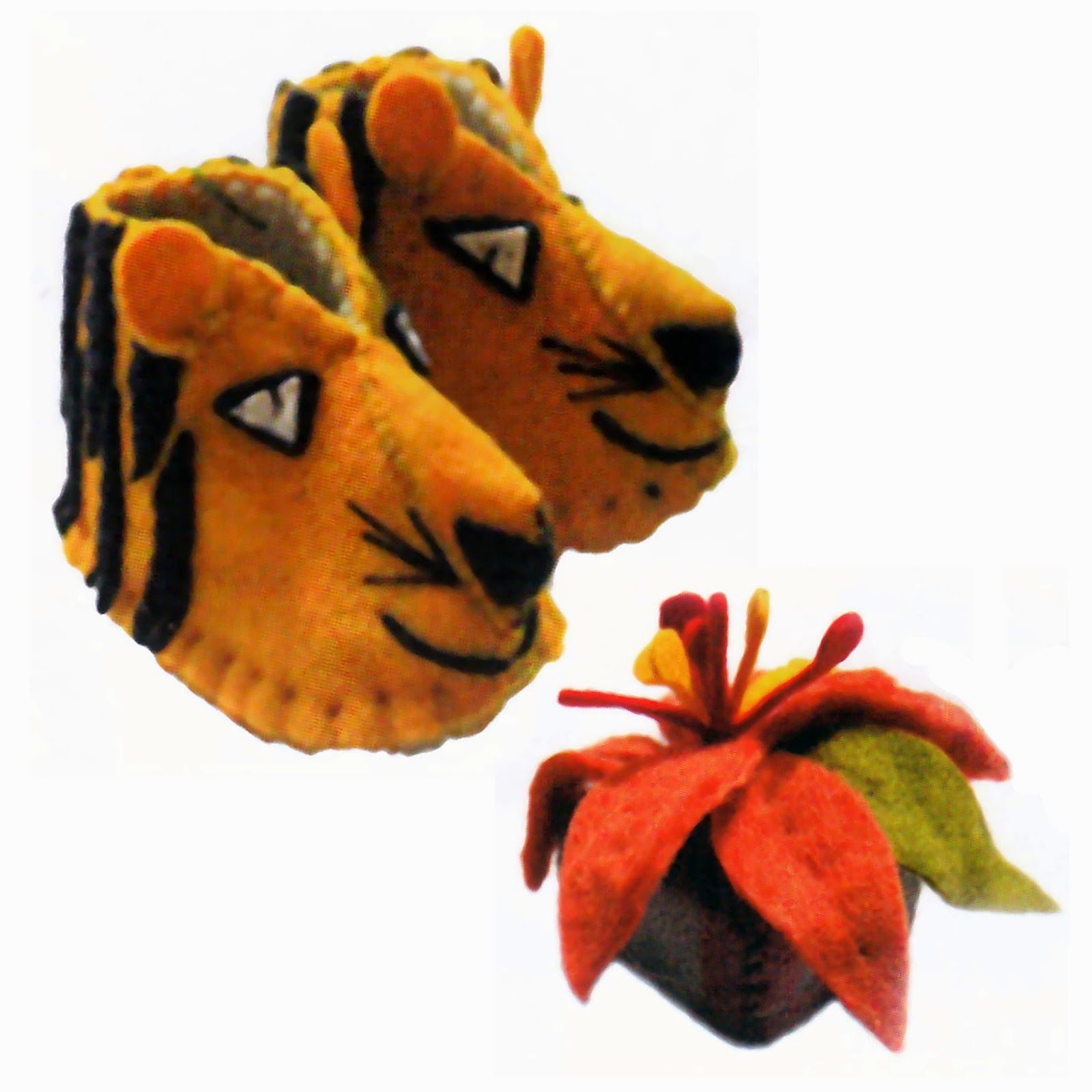 Zooties (felt baby booties) & Felt Soaps - Kork: Fiber Art Group via Silk Road Bazaar | Touchstone Gallery