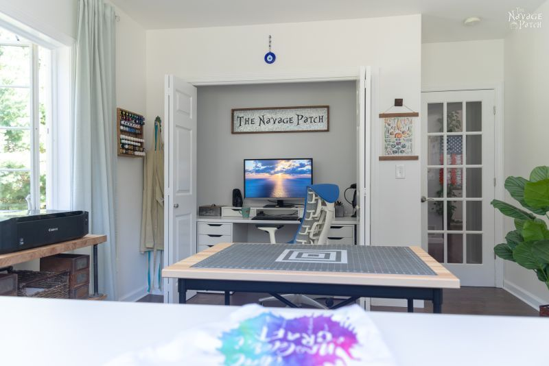Craft Room Makeover Reveal #craftroommakeovers