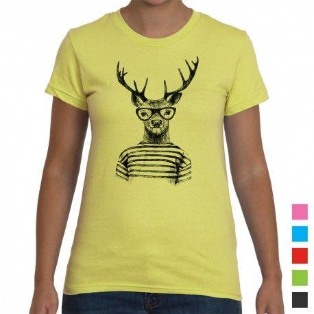 Cool Hipster Deer Women's T-Shirt. Gorgeous range of women's tees at choosy.com.au
