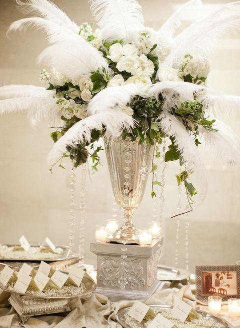 37 Art Deco Wedding Centerpieces That Inspire Art Deco Wedding Centerpieces Art Deco Wedding Flowers Art Deco Wedding