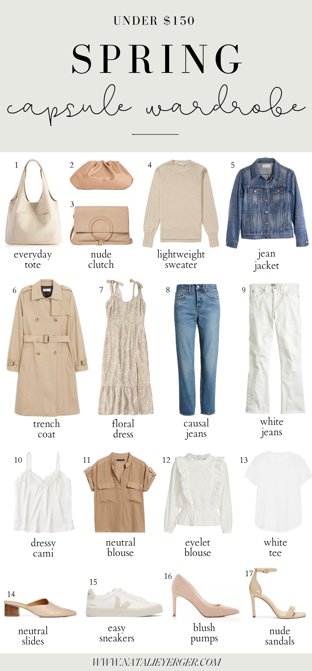 Spring Capsule Wardrobe 2020   Natalie Yerger