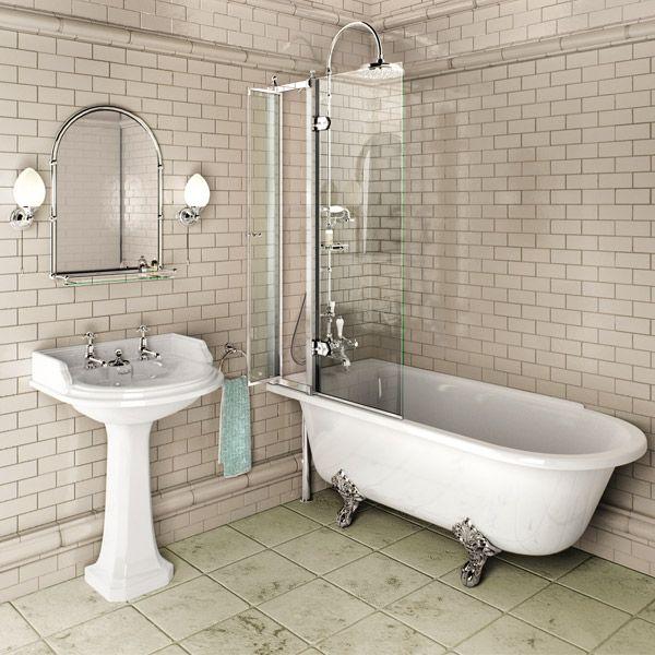 Bathroom Burlington Ideas burlington hampton lh 1500mm showering bath + legs   bath