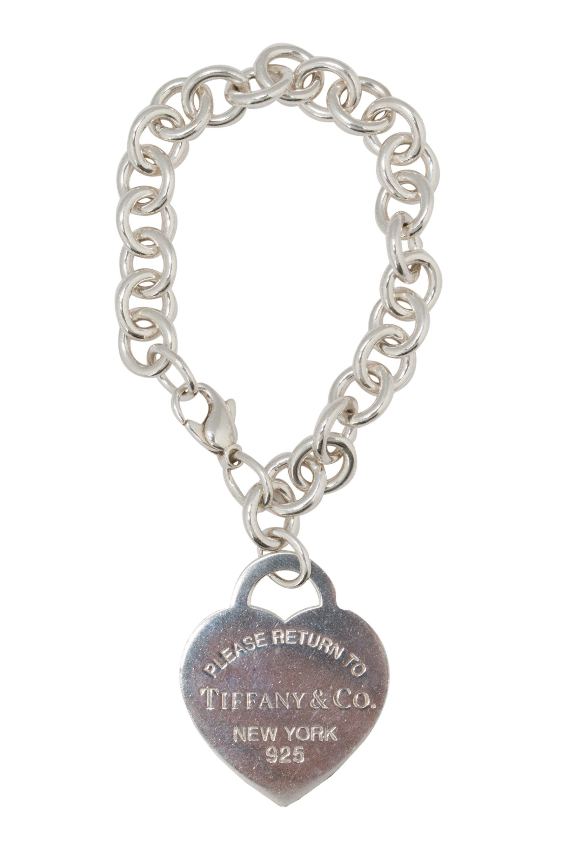 a168e4dae Pre-Owned Tiffany & Co. Return to Tiffany Heart Tag Charm Bracelet $235