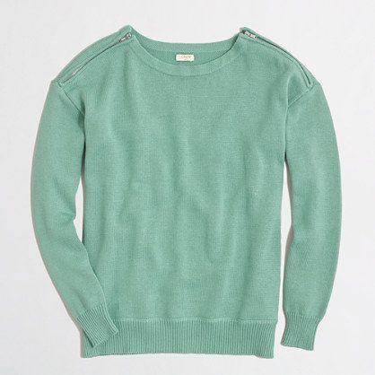 J.Crew Factory - Factory zip-shoulder sweater