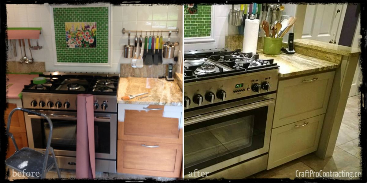 Before & After: Our Kitchen Cabinet Refinishing & Painting ...