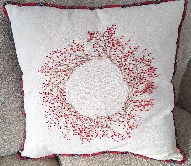French Knot Wreath Pillow Tutorial | Almohadas bordadas, Bordado y ...