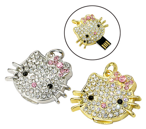 Hello Kitty crystal usb flash drive USB2.0 high speed