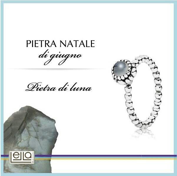 anello pandora con pietra natale giugno