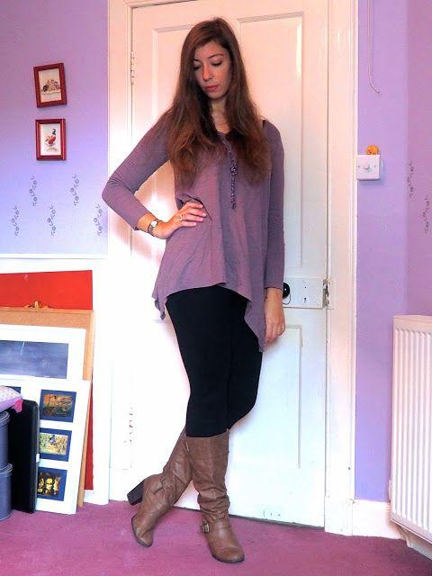 47e5e9fd8ffe0 Lilac dreams outfit of long tunic style purple top black jpg 480x640 Purple  top tunic leggings