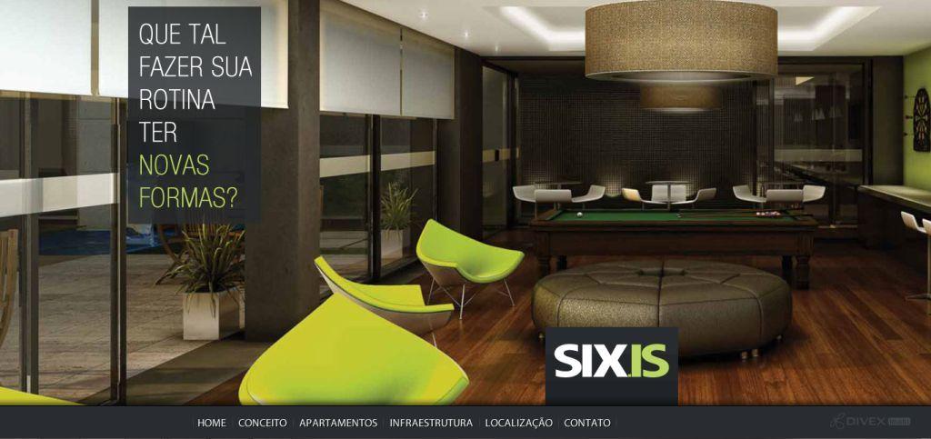 HotSite SIXIS, para a Famcorp Incorporadora.