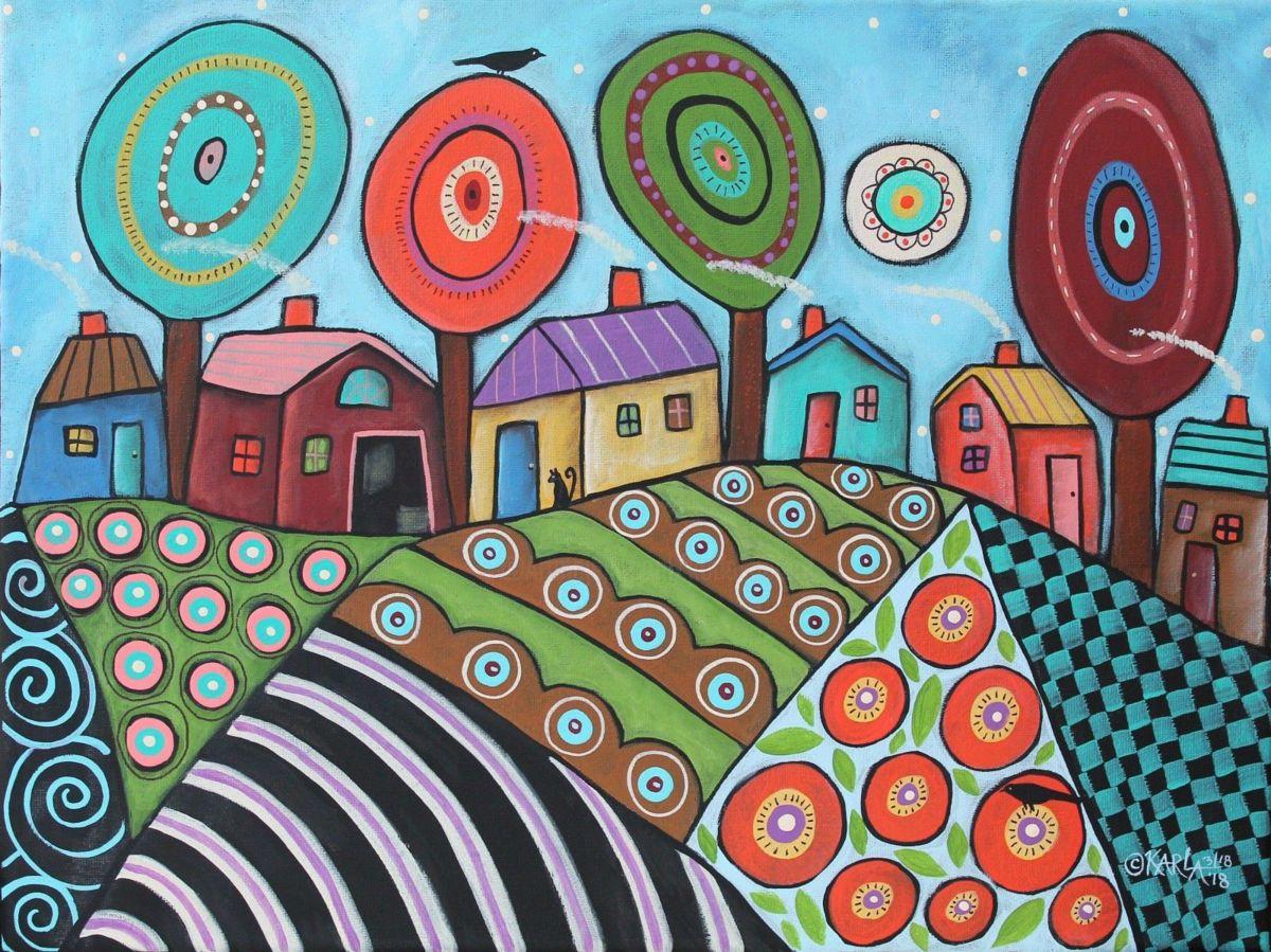 Karla Gerard Ist Ein Internationaler Kunstler Der Sowohl Auf Dem Nationalen Wie Internationalen Markt Whimsical Art Original Canvas Painting Hundertwasser Art