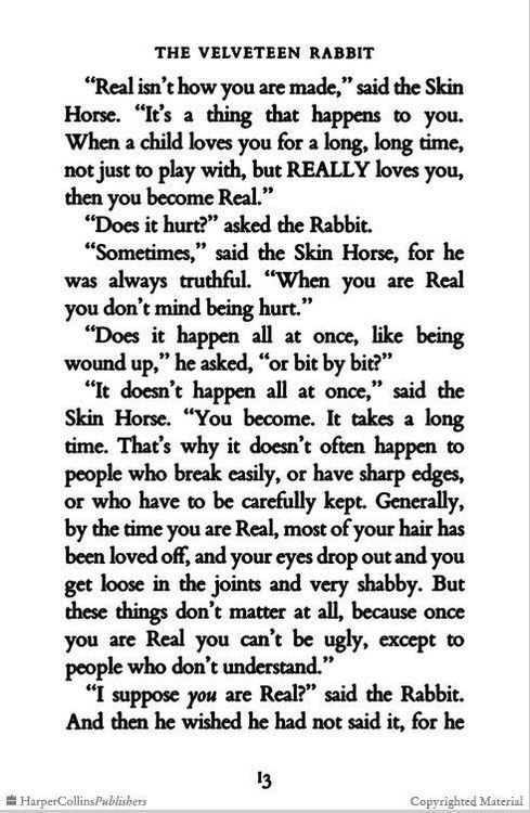 be real- the velveteen rabbit | The velveteen rabbit quotes ...