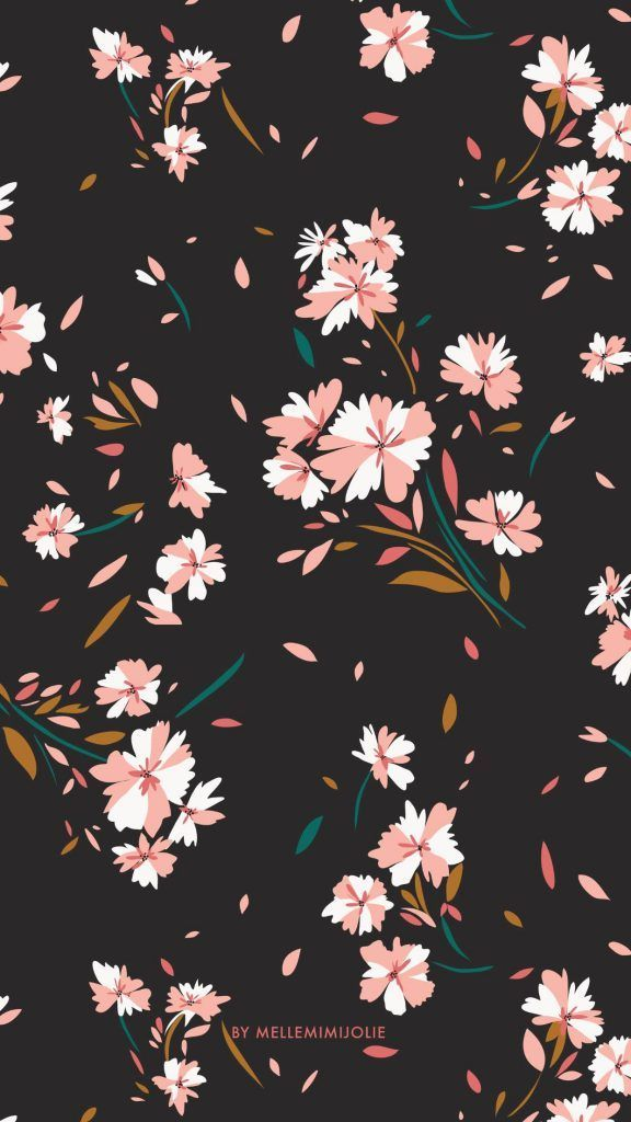 Iphone Wallpaper Floral Wallpaper Floral Wallpapers Floral Wallpaper Hd Floral Wallpaper Mobile F Wallpaper Iphone Latar Belakang Ilustrasi