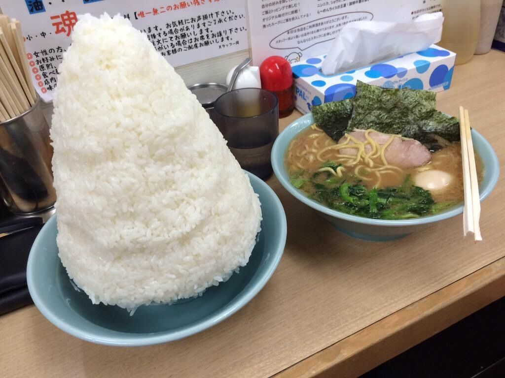 Dokuroou 家系ラーメンと白米という最強のバッテリーお料理速報 ラーメン ラーメン チャーハン ライス