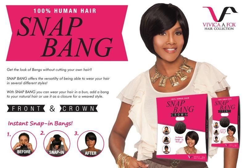Closure Snap Bang Crown Clip In 100 Human Hair By Vivica A Fox