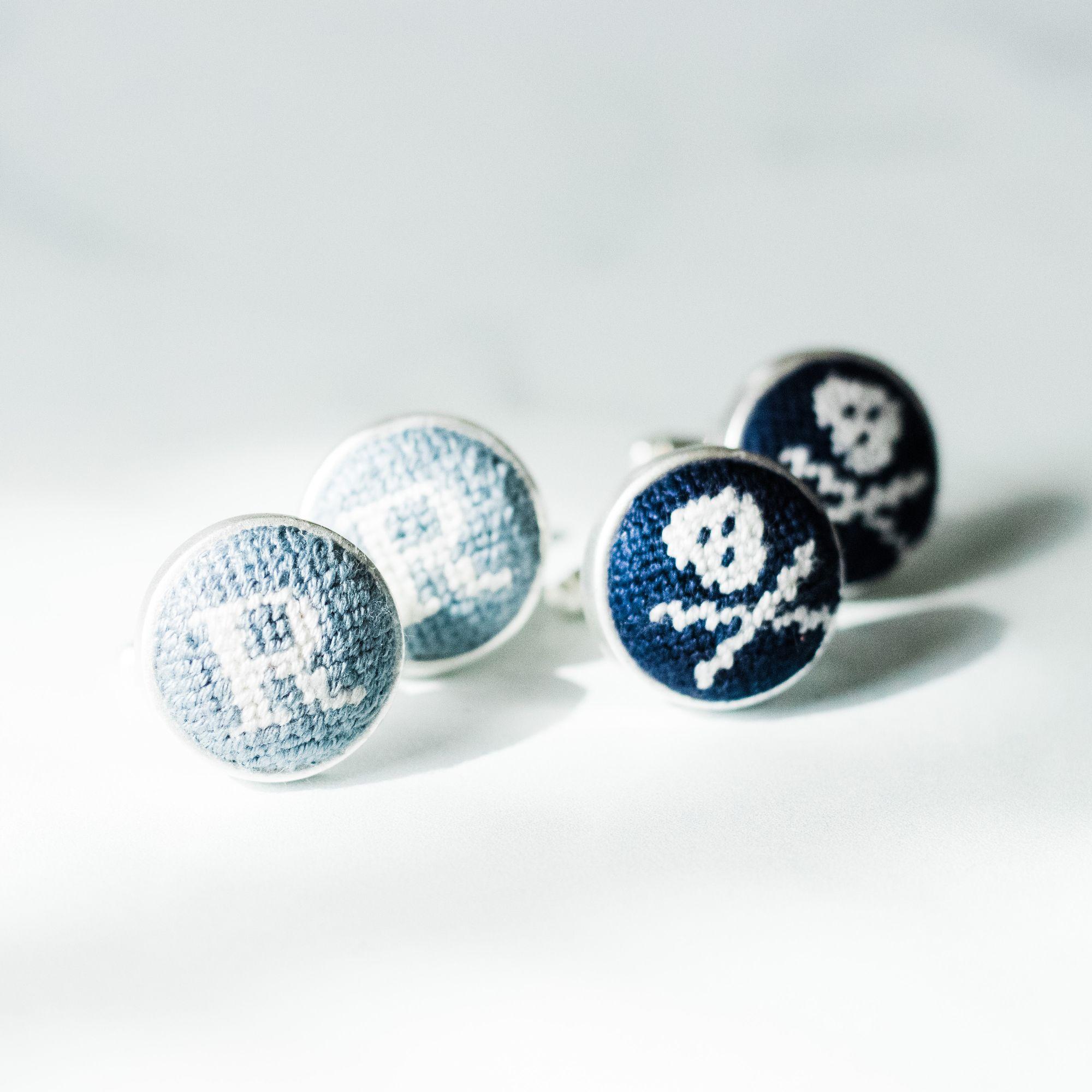 Custom Needlepoint Cufflinks