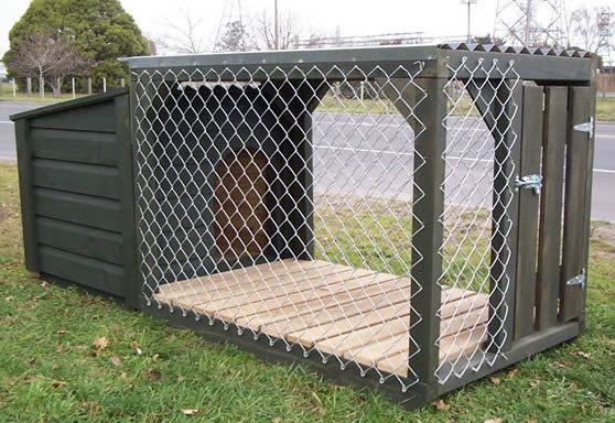 Kennel And Run From Woodworx Building A Dog Diy